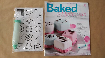Baked & Delicious Magazine Issue 8 Icing Pen, Nozzle, Icing Sheet + Template