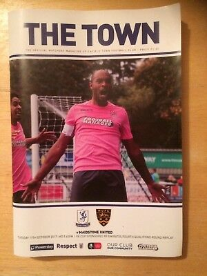 Enfield Town v Maidstone United Programme - FA Cup replay - 17th October 2017