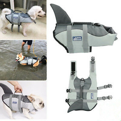 Dog Life Swimming Jacket Shark Float Vest Adjustable Buoyancy Aid Pet Costume H1
