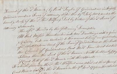 1843 Manor of Gooderstone Rectory Norfolk 4 page paper Deed Document