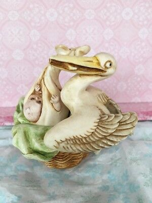 Harmony Kingdom 'SPECIAL DELIVERY' TJST 2000 Retired Collectable Stork with Baby