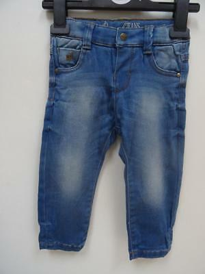 MAYORAL JEANS baby girls blue soft stretch jeans AGE 9-12 MONTHS NEW BNWOT