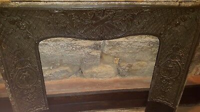 French Antique cast iron fireplace surround,insert late 18th cent.-unbelievable