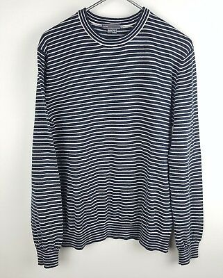 Vince Size XL (Girls) Striped Long Sleeve 100% Cotton Sweater Blue White C5