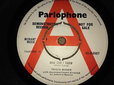 "TRICIA MARKS HOW CAN I KNOW 1963 DEMO VINYL 7"" SINGLE POP 60's"