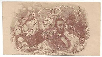 Union Civil War Patriotic Cover Unused - Magnus Overall Bronze Abraham Lincoln