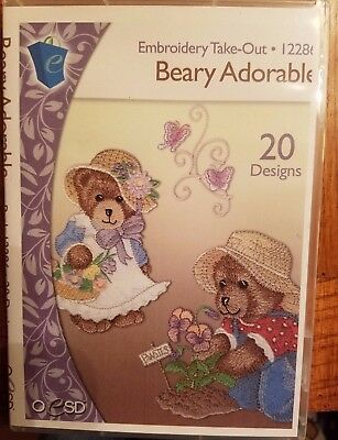 """Oesd Designs """"beary Adorable"""" & """"baby Birth Sampler"""""""