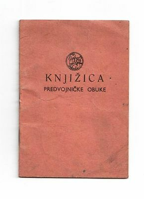 Yugoslav Jna Army - Pre Military Training Id