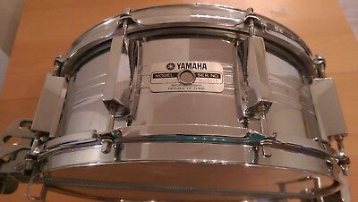 Yamaha Recording Custom Steel Parallel Action Snare Drum Vintage 70s 80s 9000