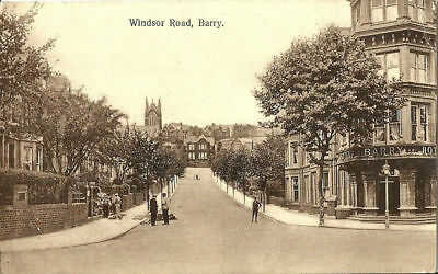 Barry Windsor Road Barry Hotel On Corner 1927 Early Postcard