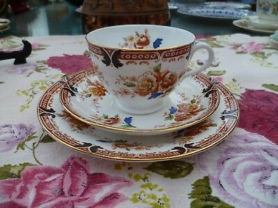 Vintage Tuscan English China Trio Tea Cup Saucer Plate 7822
