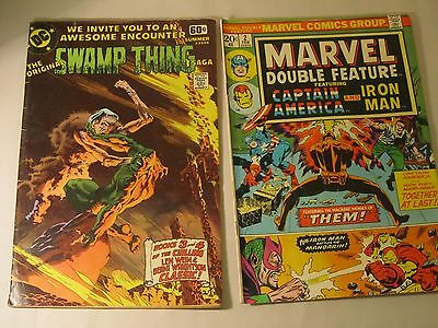 Lot of Two Marvel Double Feature #2 Feb. 1974 & Swamp Thing #14 1978 Lot-SLX-11
