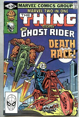Marvel Two-In-One #80-1981 fn+ the Thing / Ghost Rider
