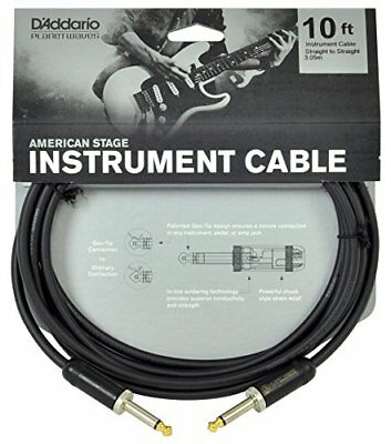 Planet Waves American Stage Guitar and Instrument Cable 10 feet