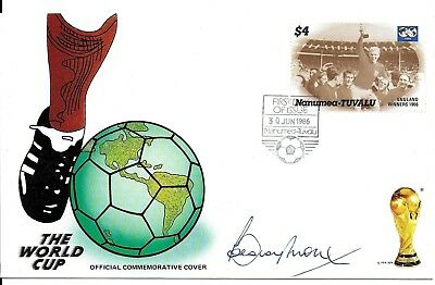 England 1966 World Cup Captain Bobby Moore Hand Signed Autographed Fifa Fdc