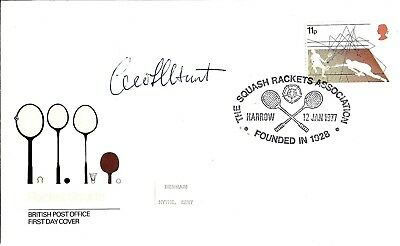 Geoff Hunt Hand Signed Autographed Racket Sports Squash Fdc