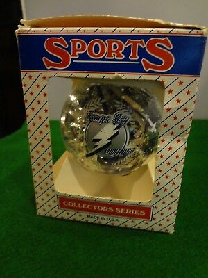TAMPA BAY LIGHTNING CHRISTMAS ORNAMENT Glass Ball Ornament in Box - 3""