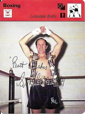 Henry Cooper Hand Signed Autographed Boxing Lonsdale Belts Photo Card