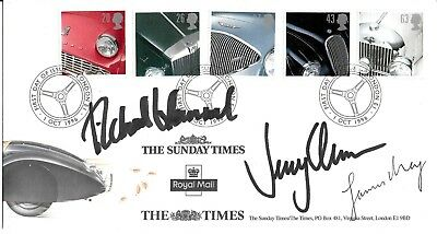 Top Gear Signed British Cars Fdc Jeremy Clarkson James May Richard Hammond