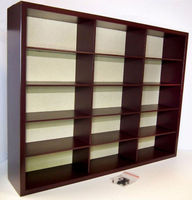 ATLAS EDITIONS  LOVELY WOODEN DISPLAY CABINET FOR 15 OF YOUR 1:43 MODELS  lot1