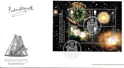 Patrick Moore Sky At Night Hand Signed Astronomy Autographed Fdc