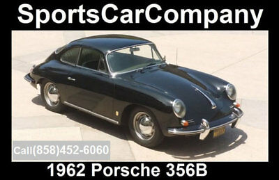 1962 Porsche 356  1962 PORSCHE 356B 2 OWNER CAR GREAT HISTORY+RECORDS BLACK BEAUTY CALL TODAY!
