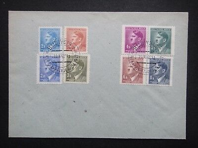 Germany Nazi 1942 Stamps Used Cover Hitler B&M Third Reich WWII Bohemia & Moravi