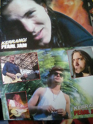 Pearl Jam 1992 UK Live 8 Page Pull Out Brixton & Finsbury Neil Young