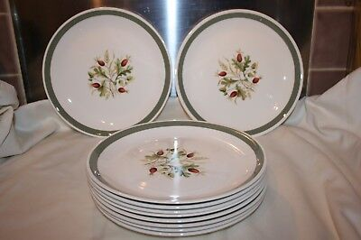 "Alfred Meakin ""greenwood"" Large Dinner Plates 10"""
