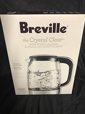 New Breville The Crystal Clear Electric Kettle Bke585xl 57oz 1800watts