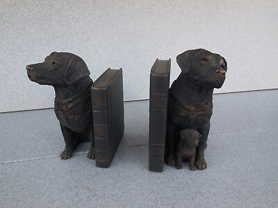 Nice Pair Of Sandicast Labrador Retriever Bookends / Prompt Safe Shipping