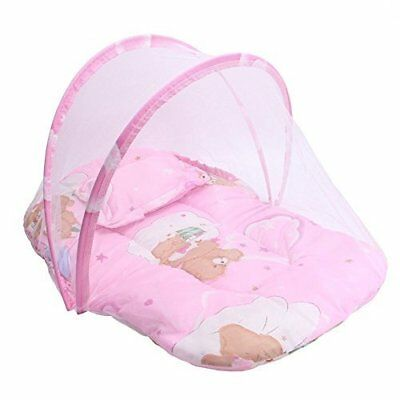 PYD Portable Folding Mosquito Net Anti-Bug Crib Tent w/ Cushion Mattress Pillow