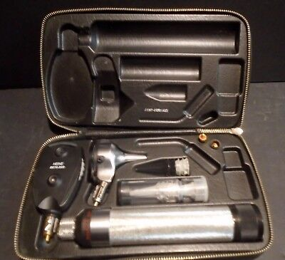 Heine Accu San S Otoscope Ophthalmoscope Kit in A Case Vintage W.Germany