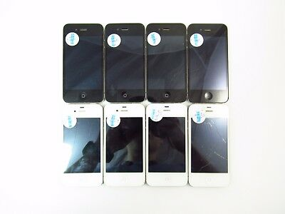 Lot of 8 Cracked Apple iPhone 4 (5x 8gb - 3x 16gb) A1332 AT&T Check IMEI CR