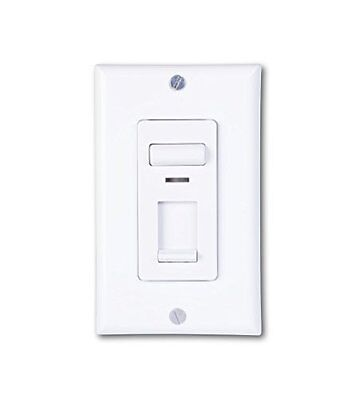 Century 150w LED and CFL/600w Incandescent Wall Light Dimmer Switch WHITE Slide
