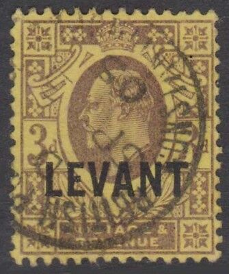 BRITISH LEVANT KEVII 1905-12 Issue 3d SGL6  Used