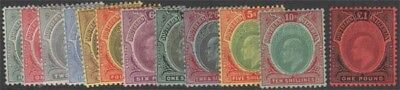 SOUTHERN NIGERIA KEVII 1907-11 Set Scott 32-43 SG33-44 Lightly Hinged cv £400