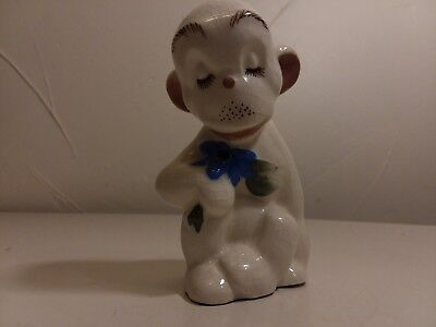 Dated 1940 DeLee Art Pottery California Monkey detailed Cute HTF