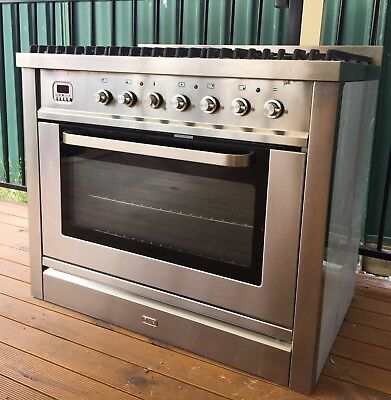 ilve 90cm Stainless Steel Freestandiing Dual Fuel Oven/Stove T90MP