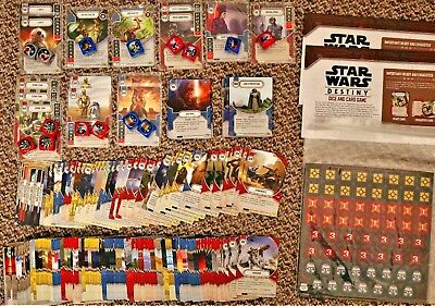 STAR WARS DESTINY: Bulk Job Lot EMPIRE AT WAR / Two-Player Game Set 417 Cards!