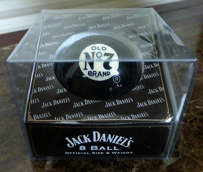 NEW Jack Daniels Whiskey Old #7 Black 8 Ball Official Size Weight Pool Bar Gift