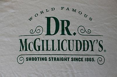 Dr McGillicudys Shooting Straignt Since 1865 Men's X-LARGE Shirt Off White NEW