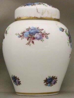 "Royal Albert ********Ginger Jar with lid******** - ""Moonlight Rose"" - 10cm high"