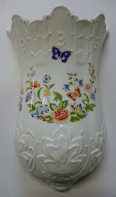 AYNSLEY: 'Cottage Garden' Wall Pocket or Wall Vase