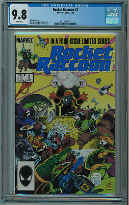 Rocket Raccoon #3 Cgc 9.8 Best Cgc Copy White Pages 1985