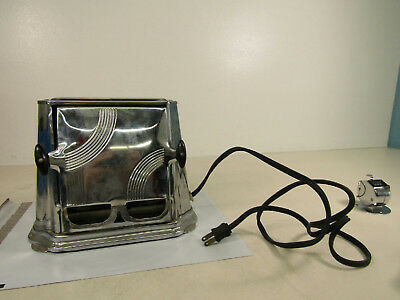 Vintage 1920s Son-Chef Series 680 Toaster Chrome 2 Slots