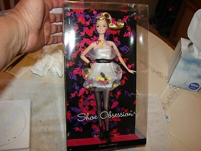 Barbie Collector Shoe Obsession Doll- 2011 Pink Label-Stilettos,Mules,OTS NRFB
