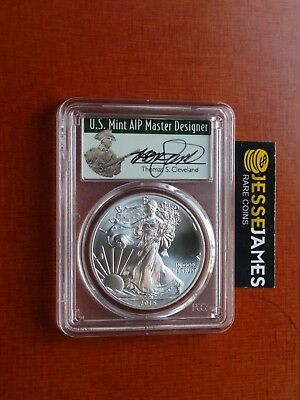 2015 (P) Silver Eagle Pcgs Ms69 Cleveland Struck At Philadelphia 79,640 Pop 50!