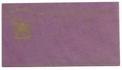 Union Civil War Patriotic Cover Unused - Magnus Bronze on Purple Envelope