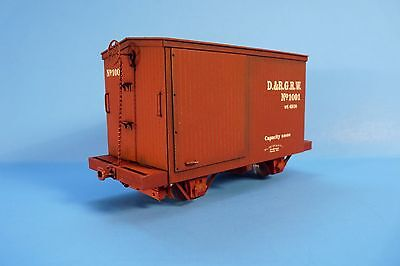 On3/on30 Silver City Models D&rgw 1872 12' 4 Wheel Box Car Kit